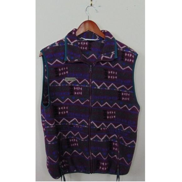 abf170ae29adc8 Vtg Columbia Women Full Zip Fleece Vest Purple